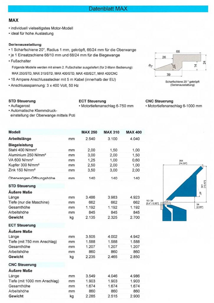 Datenblatt Schlechtl MAX