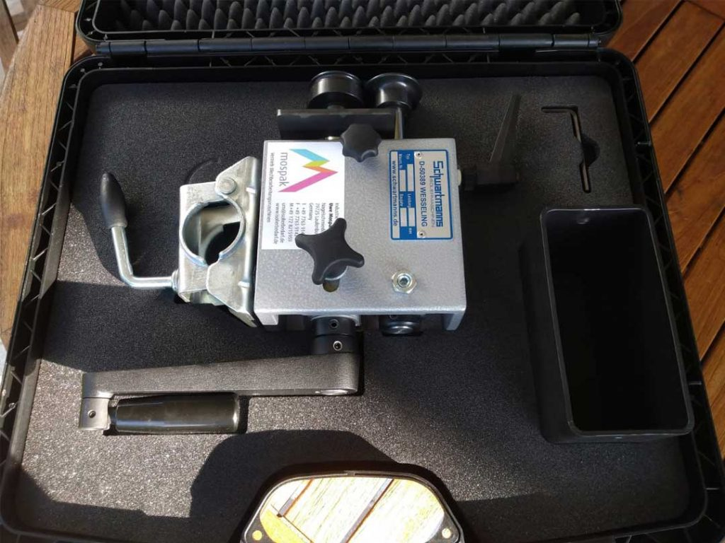 Hand-Sickenmaschine für die Baustelle im Koffer